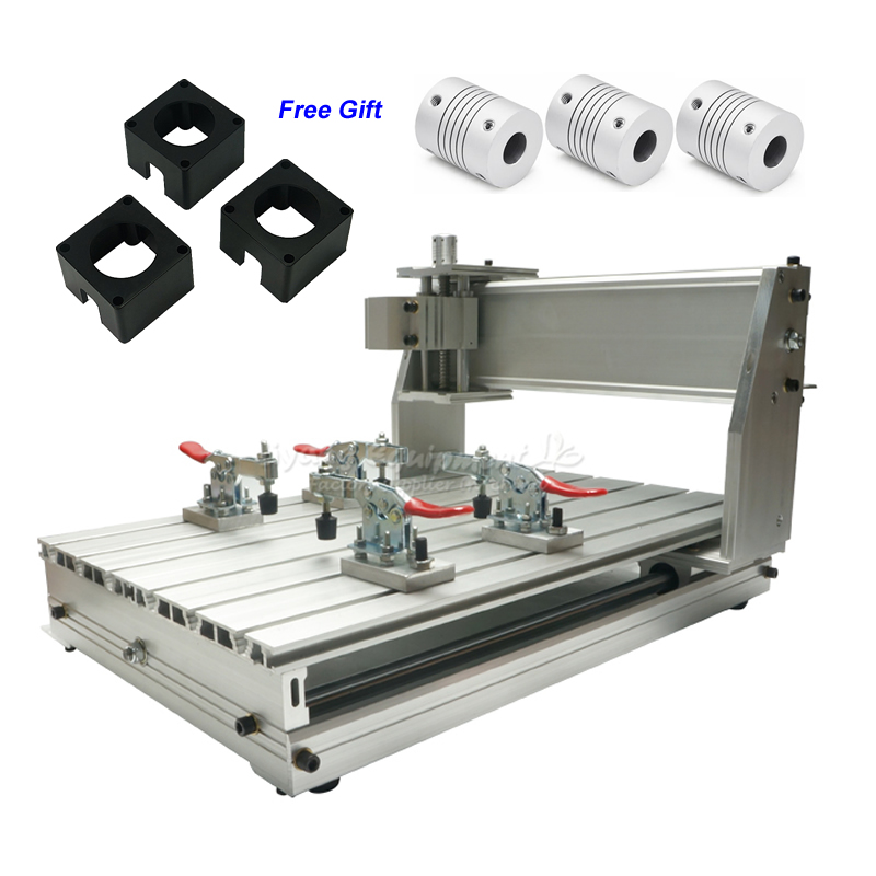 Ball Screw Mini CNC 3040 Z-DQ Engraving Machine Frame Kit with 3pcs Couplings Stepper Bracket 4pcs Clamp for Router