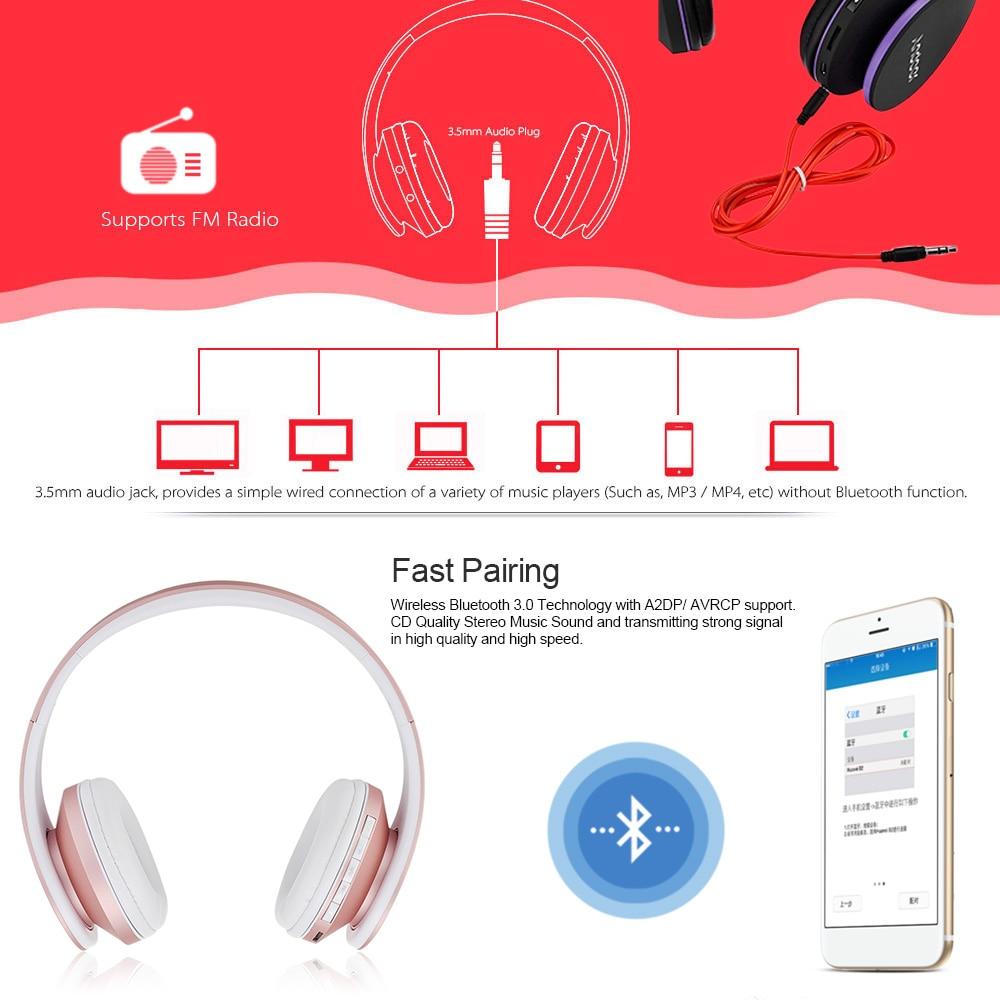 Bluetooth Kopfhörer Wireless Stereo Bluetooth Headset 3,5mm ...