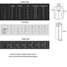 (Blazer+Pants+Vest) 3 Pieces Men Suit Slim Fit Wedding Business Wear Formal Men Suit Black Elegant Costume Mariage Homme M-4XL