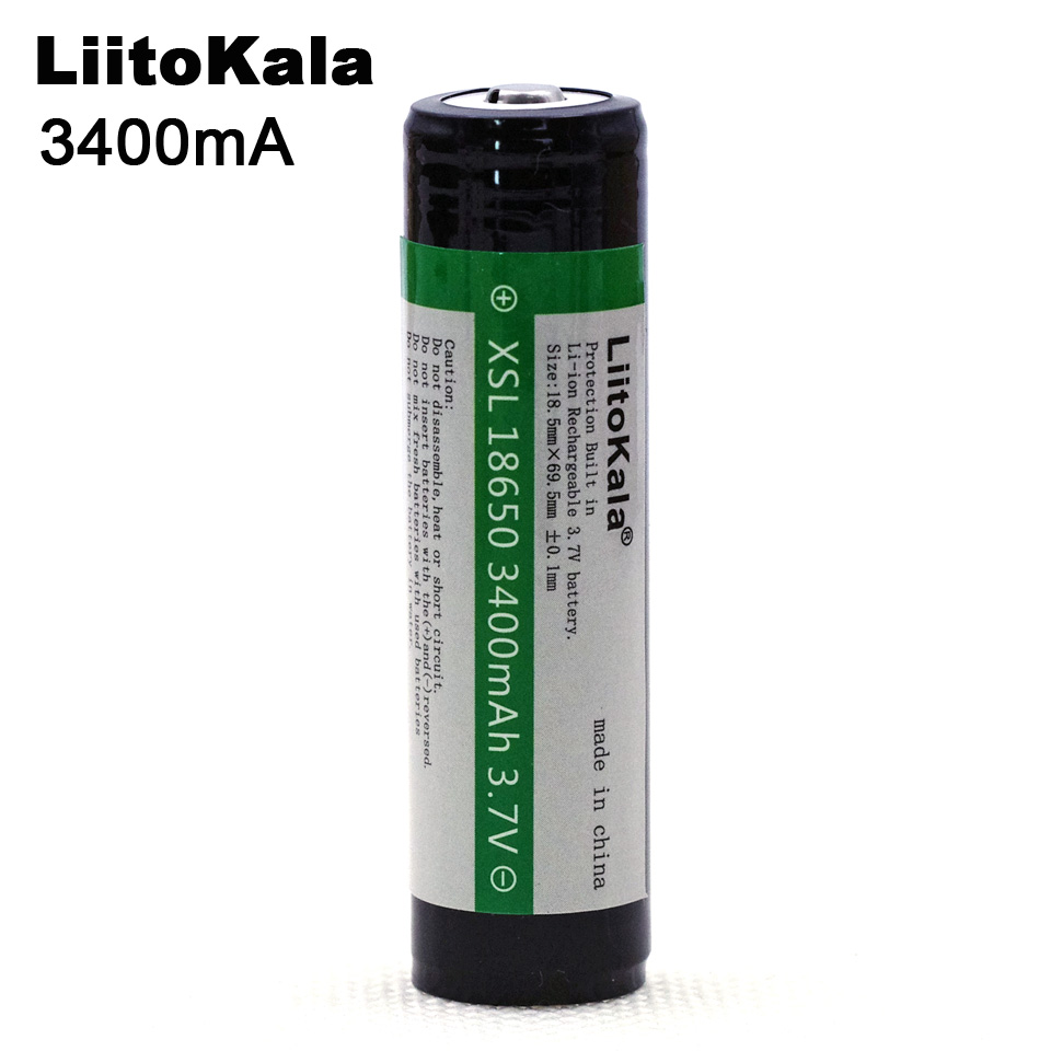 New Liitokala 18650 3400mAh 3.7V Lithium Battery  for Flashlights plus protection board Free Shopping 30a 3s polymer lithium battery cell charger protection board pcb 18650 li ion lithium battery charging module 12 8 16v