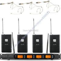 Micwl аудио m400 4be UHF 4X100 канальный цифровой Беспроводной микрофон Микрофон Системы 4 кармана с 4 Бежевый гарнитура Mic