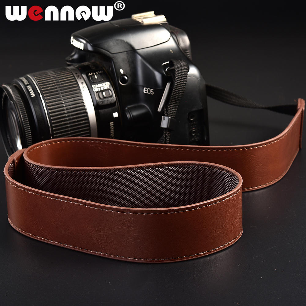PU Leather Camera Strap for Nikon Canon Sony Pentax Panasonic Photography Spare Parts Camera Neck Straps Shoulder Sling Belt