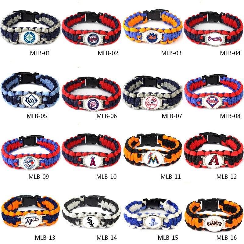 Sport Baseball Cincinnati Reds Jewelry Bracelet America Sport Team Charm Bangle Jewelry Umbrella Braided For Fans G