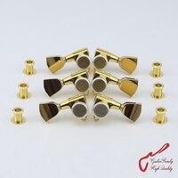 Genuine Original L3 R3 GOTOH SG301 04 MGT Guitar Locking Machine Heads Tuners Gold MADE IN