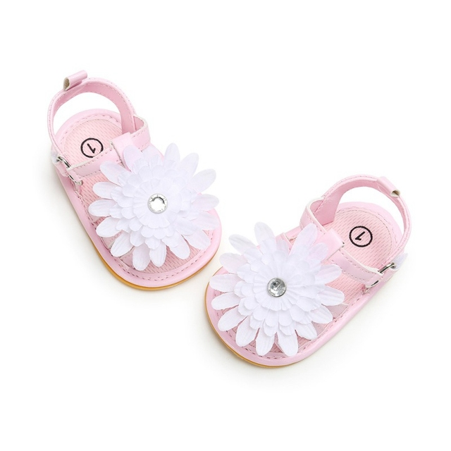 d55be1d64cc85 Infant Baby Girl Soft Sole Sandals New Summer Toddler PU leather Shoes  Flower Sandal Candy Color