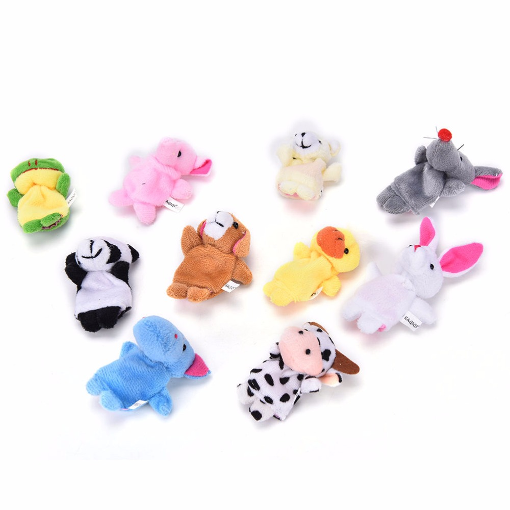 10-PcsLot-Cute-Hand-Toy-Cartoon-Animal-Finger-Puppet-Biological-Animal-Finger-Puppet-Plush-Toys-For-Childrens-Favor-Dolls-1