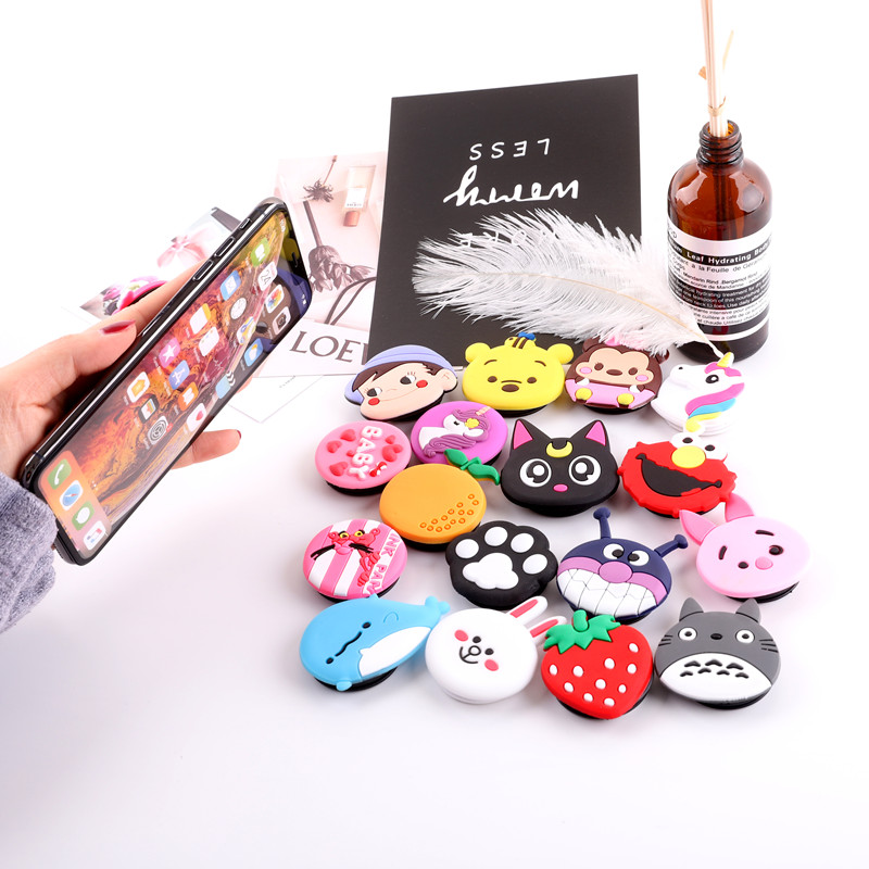 Phone Holder Cartoon Air Bag Popular Ring Expanding Stand Finger Bracket Base Finger Top Support Mobile Cell Phone Bracket