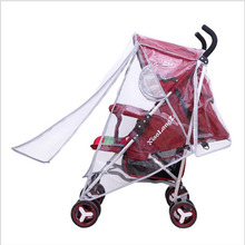 Windproof Baby Stroller Rain Cover Special Dustproof Raincoat Big Cart High Landscape Special Rain Cover Pushchairs Accessories