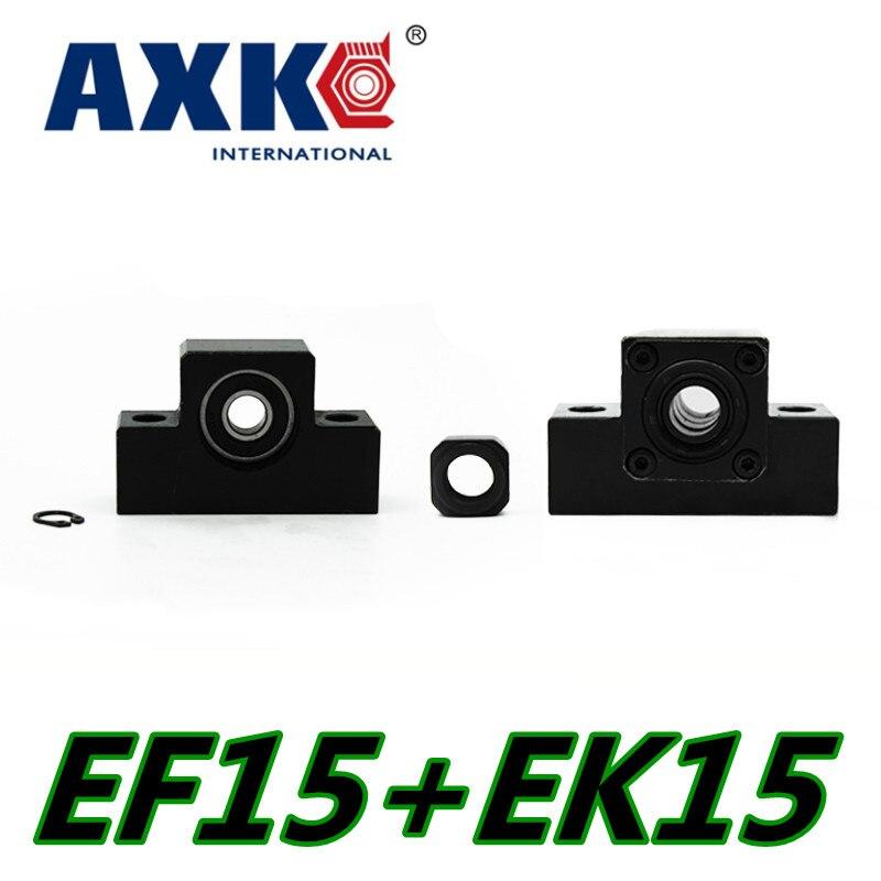 Linear Rail AXK Axk Ek/ef15 End Support Unit For Sfu2004 Sfu2005 Sfs2010 Ballscrew 1pc Ek15 Fixed Side+1pc Ef15 Floated Side cheap end support unit ek ef12 for sfu1604 sfu1605 sfs1610 sfe1616 ballscrew 1pc ek12 1pc ef12
