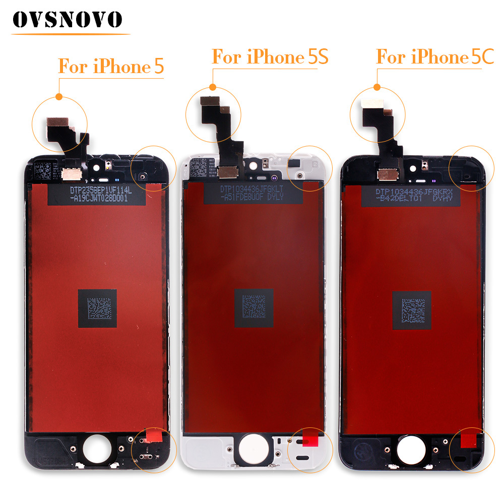 Ovsnovo Top Quality <font><b>Screen</b></font> For <font><b>iPhone</b></font> 5 <font><b>LCD</b></font> <font><b>Screen</b></font> Display and Digitizer Replacement Touch <font><b>Screen</b></font> For <font><b>iPhone</b></font> 5c <font><b>5s</b></font> 6 6 plus <font><b>LCD</b></font> image
