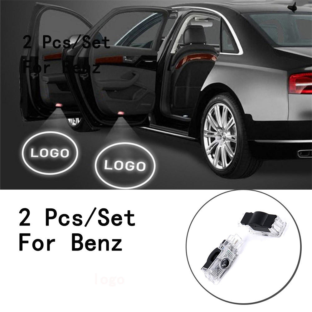Lens Include Only For Benz S Class/SLK/CLK/SLR/W240/R171 5W Ghost Shadow Projetor 2Pcs/Set LED Courtesy With Logo Weclome Lamp