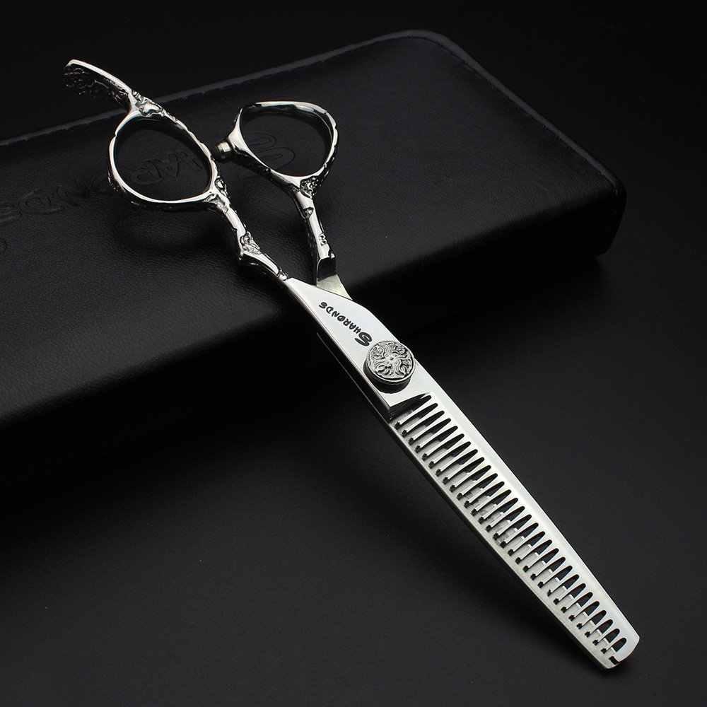 Ensemble de ciseaux professionnels pour barbier en acier, 6/7 pouces, 440c, outil de conception des cheveux, ensemble de ciseaux pour coiffeur
