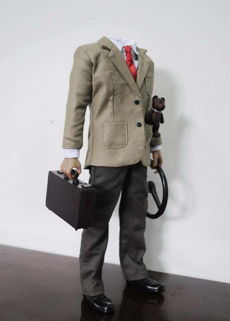 1/6 Scale <font><b>MR</b></font>.<font><b>Bean</b></font> AC-11 <font><b>Costume</b></font> Accessories KMF033 for 12inch Action Figures Toys Man's suit Shoes T shirt Model m3n image