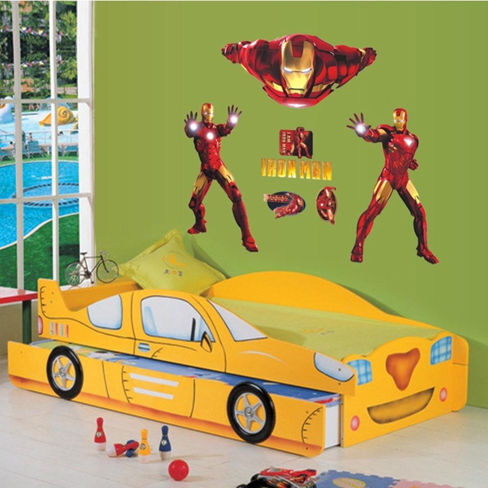 3d The Avengers Iron Man Art Creative Boy Room living room Home ...