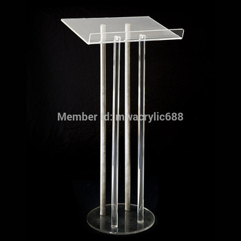 Free Shipping Price Reasonable Clean Acrylic Podium Pulpit Lectern image