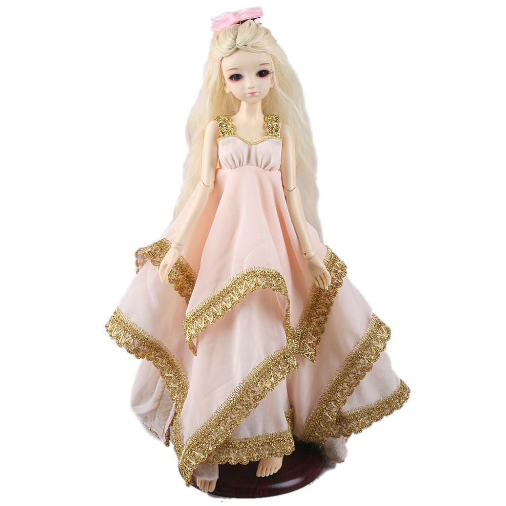 [wamami] 400# Pink Sequined Long Dress For 1/4 MSD DOD AOD DZ BJD Doll Dollfie [wamami] saber cosplay costume suit for 1 6 sd dod aod bjd doll dollfie