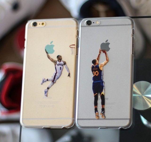 lebron dunking apple logo case. clear case for iphone 6 6s basketball curry westbrook jordan printed lebron dunking apple logo