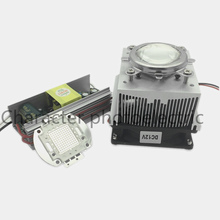 100W LED UV 395-400nm led chip +100W AC 85-265V output DC 30-36V driver + heatsink+ 90 degree Lens with Reflector Collimator kit
