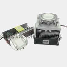 цены 100W LED UV 395-400nm led chip +100W AC 85-265V output DC 30-36V driver + heatsink+ 90 degree Lens with Reflector Collimator kit