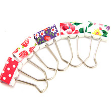 24Pcs/set Colorful Metal Binder Clips File Paper Clip Office Supplies Photo Message Ticket File Clips School Supplies Stationery
