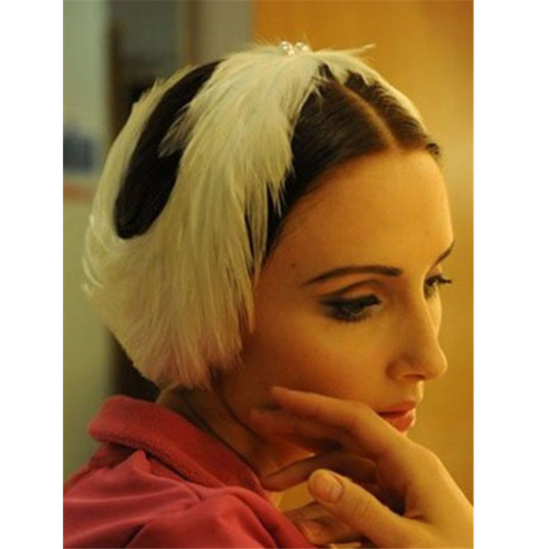 Swan Lake Ballet Feather Headdress Hand Made For Women, Princess Ballet Headwear In Women Hair Accessories Headband Top