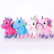 Baby Dolls Plush-Toy Unicorn Kids Toys Pendant-Girl Birthday-Gift Stuffed Animal Kawaii-Bag