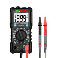 MESTEK DM91 Mini Portable Digital Multimeter 1999 Counts AC/DC Volt Amp Ohm Diode Battery Continuity Tester with Flashlight
