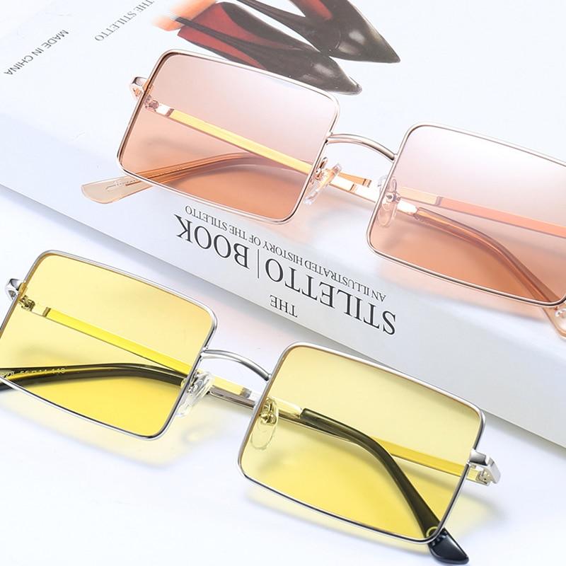 Vintage Square Sunglasses Women Men's Brand Designer Eyewear for Outdoor Ladies Sun Glasses Goggles Oculos UV400 Gafas 18928DF 3