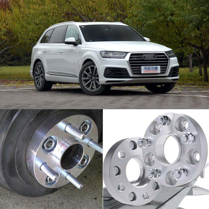 Teeze 4pcs 5X112 66.6CB 25mm Thick Hubcenteric Wheel Spacer Adapters For Audi Q7 2015 2018|adapter|adapter audi|adapter wheel - title=