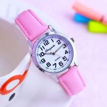 Часы наручные cyd с кожаным ремешком для мальчиков и девочек