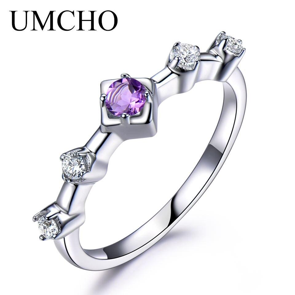 Wedding Gift For Female Friend: Aliexpress.com : Buy UMCHO Natural Amethyst Solid 925