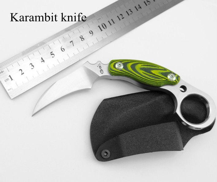 ФОТО HOT Karambit Knife Japan Fixed D2 Blade Knife Micarta Handle Survival Knives Hunting Tactical Knifes Camping Outdoor Tools KN384