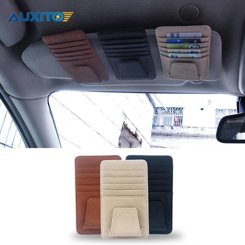Car Genuine Leather Cards Case For Skoda Superb Octavia A7 A5 2 Fabia Rapid Yeti Mitsubishi Asx Lancer 10 Outlander Pajero Colt yuzhe leather car seat cover for mitsubishi lancer outlander pajero eclipse zinger verada asx i200 car accessories styling