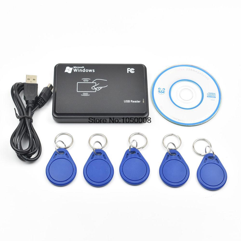 1 pcs/lot Rfid nfc lecteur et écrivain 13.56 Mhz ISO14443A ultraléger + 5 pcs 13.56 Mhz nfc Tag + USB câble + SDK