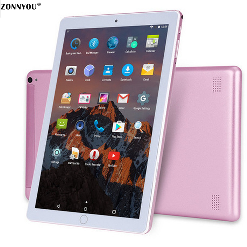 10.1 Inch Tablet PC Android 7.0 3G Call 4GB 64GB Octa Core 1.5GHz Support OTG GPS FM Bluetooth Wi-Fi Dual SIM Tablet PC