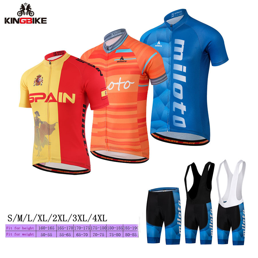 2018 Men Cycling Clothing Quick-Dry Sweat MTB Bike Jersey Set Bicycle Bike Clothes Breathable Ropa Ciclismo Summer Cycling Sets
