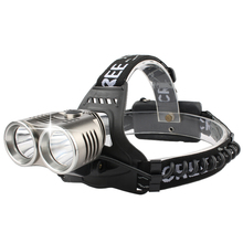 SKYFIRE Powerful Brightest LED Headlamp Waterproof Dual T6 Head Lamp Outdoor Camping Headlight With 2 Rechargeable 18650 2000LM