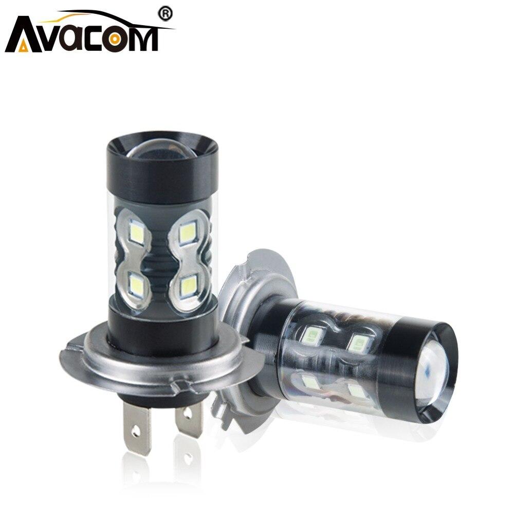 Avacom 2Pcs H11 H8 LED Car Fog Lamp 4300K H3 H10 9005/HB3 9006/HB4 PSX24W 12V 24V 1200Lm Super White Auto Fog Light LED Voiture