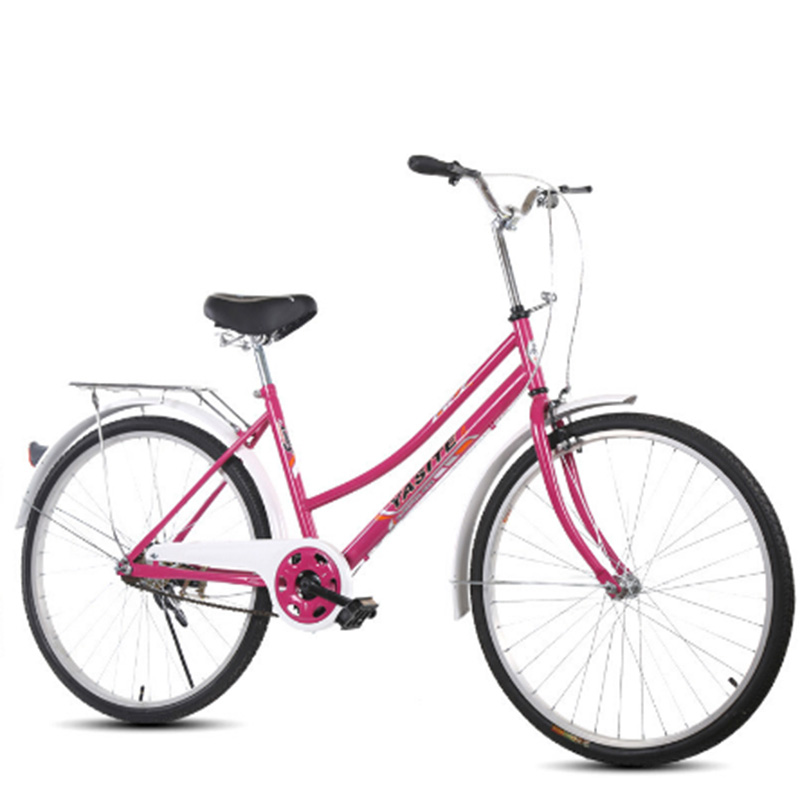 Utility Bicycle 26 Inch Adult Bicycle  Outdoor Road Retro Bike