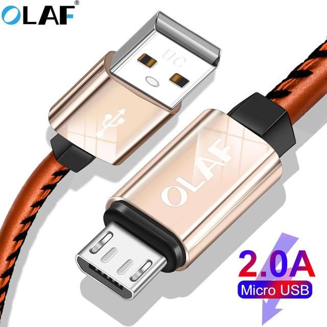 Олаф 2A пост зарядки Micro Тип usb C кабель для huawei P20 lite кожа плетение технологии кабель для samsung S7 S8 S9 плюс