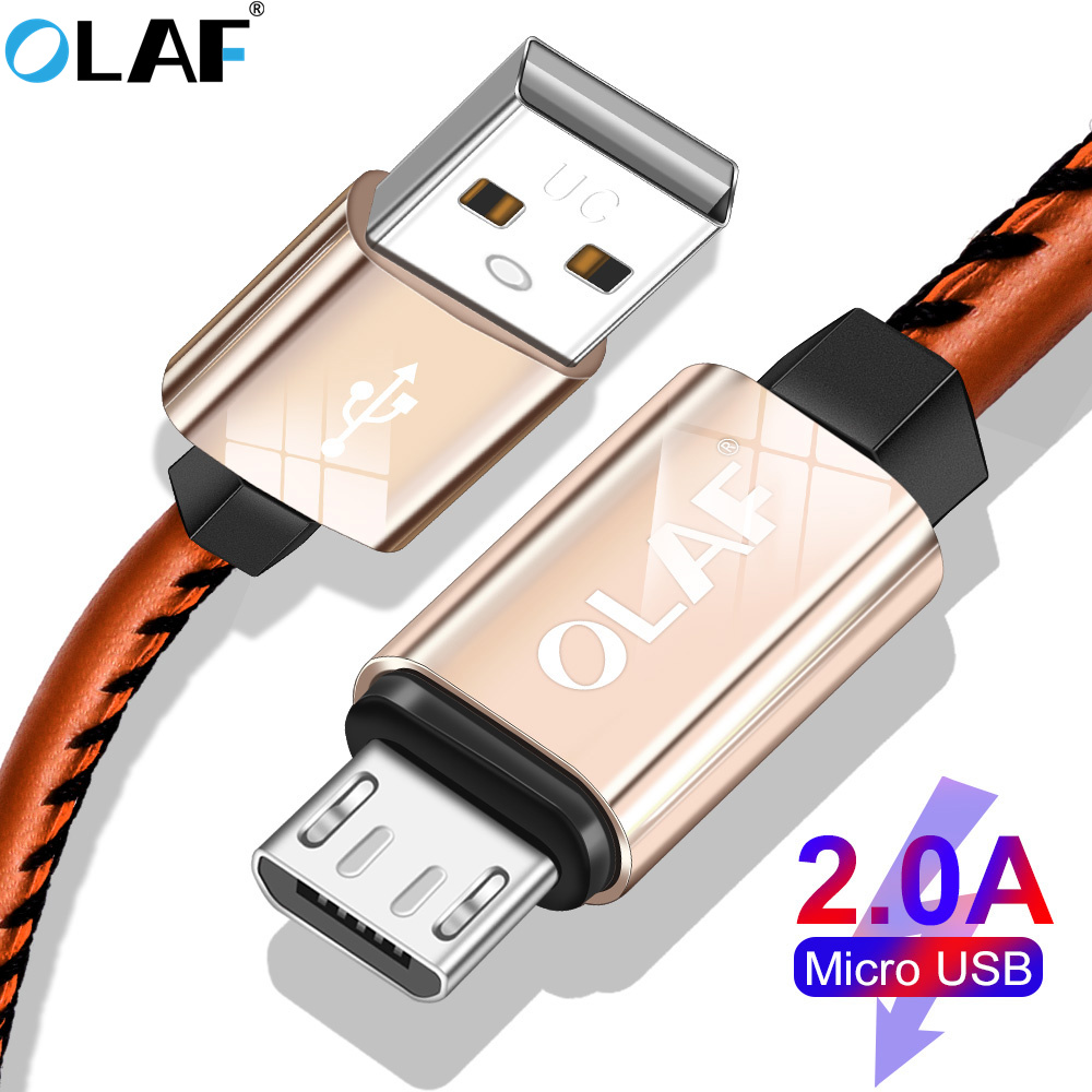 Olaf 2A Fasting Charging Micro Usb Kind C Cable For Huawei P20 Lite Leather-based Braiding Expertise Cable For Samsung S7 S8 S9 Plus