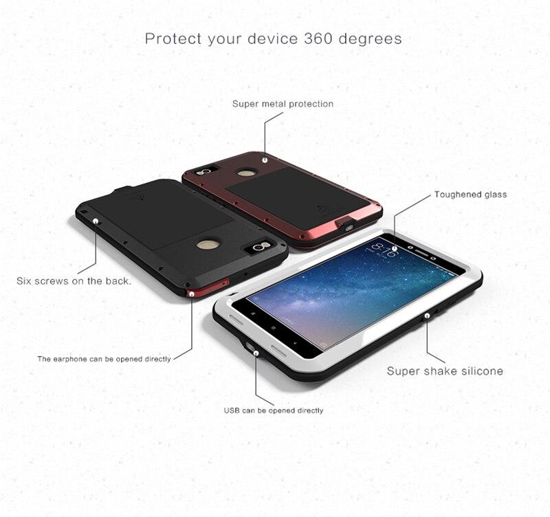 LOVE MEI Aluminum Metal Case For Xiaomi Mi Max 2 (6)