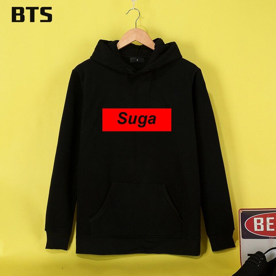 BTS Suga BangTan Boys Hoodies Mulheres Brand Fashion Sweatshirt Women tracksuit Hipster Brand Kawaii Women Hoodie