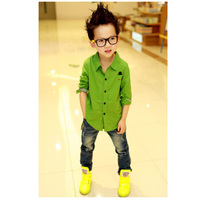 Fashion Spring Summer Boys Kids Button Down Shirt Long Sleeve Casual Shirts Tops Clothes 2 7Y