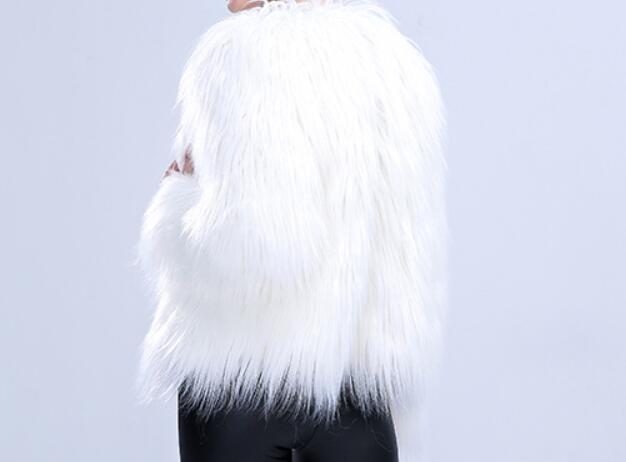 Cosplay Halloween Noël Balle Femelle Led Danseur Fourrure White De Chanteur Manteau Costumes Scène Imitation Veste Discothèque Blanc Bar AOqB6xwfx