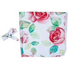 2Pcs/set Baby Kids Wrapped Cloth Hair Band Set Printed Big Red Flowers Newborn Quilt Blanket Photography Props Jewelry Gifts