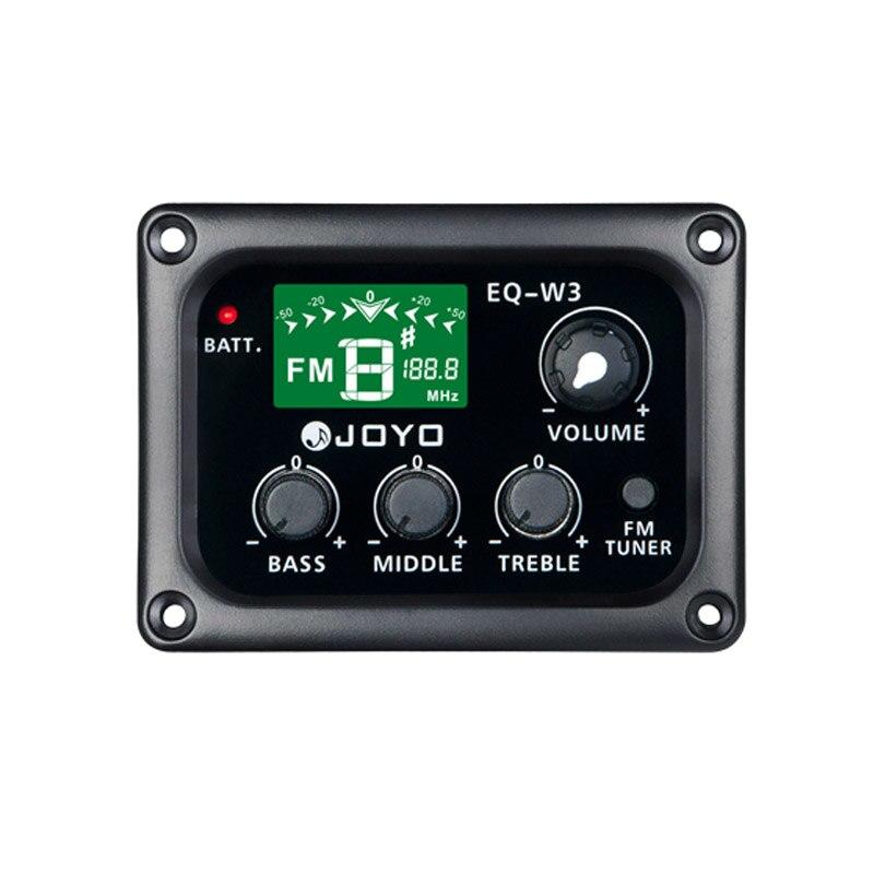 JOYO EQ-W3 sans fil 3 bandes EQ guitare acoustique électrique Pick-up préamp & Tuner avec écran LCD accessoires de guitare