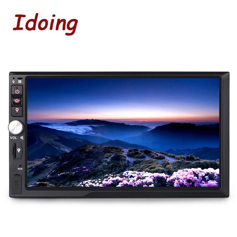 """Idoing 2 ГБ Оперативная память рулевого колеса 7 """"Универсальный 2Din Android6.0 DVD Мультимедиа Видео плеер GPS навигации Сенсорный экран bluetooth"""