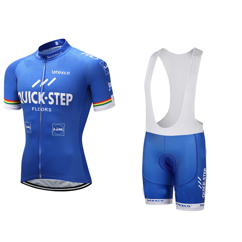 2017 Quick Step Cycling Clothing Bike jersey Quick Dry Mens Bicycle clothes mens summer team Cycling Jerseys gel bike shorts set