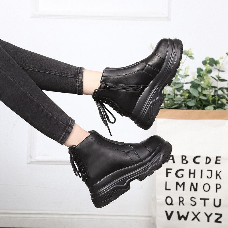 Cool Des Martin Talons Chaussures Bottes Femmes 2019 Pluie Mode Hiver forme Cheville Bas Printemps Super Boot Femme Plate Oxford Noir Western B4qOqx1Uw